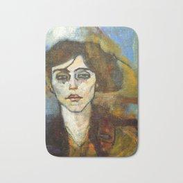 "Amedeo Modigliani ""Portrait of Maude Abrantes"" Bath Mat"