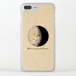 Robert Frost - Meet the Moon Clear iPhone Case
