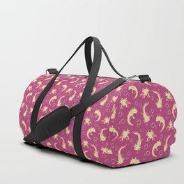 Relaxolotl - Rose Pink Duffle Bag