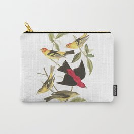 Louisiana Taneger and Scarlet Taneger - Vintage Illustration Carry-All Pouch