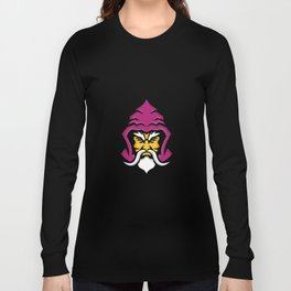 Wizard Head Front Mascot Long Sleeve T-shirt