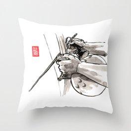 "Capoeira 482 ""Berimbau"" Throw Pillow"