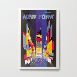 New York Times Square by night Metal Print