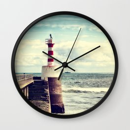 Amble Pier Lighthouse Wall Clock