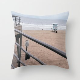 The Rails of Sand Throw Pillow
