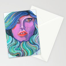 Pretty Oceanic Ombre Face Stationery Cards