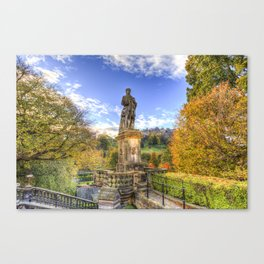 Allan Ramsey And Edinburgh Castle Canvas Print