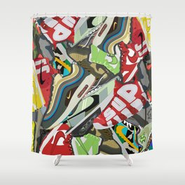 All hype sneakers Shower Curtain