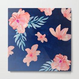 Watercolour Flowers Metal Print