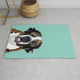 Saint Bernard pet portrait dog breed gifts for pure breed dog lovers Rug