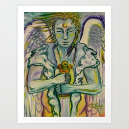 Archangel Michael - Sword Keeper Art Print