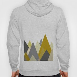 Mountains Mustard yellow Gray Neutral Geometric Hoody