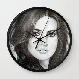 Penelope in Pencil Wall Clock