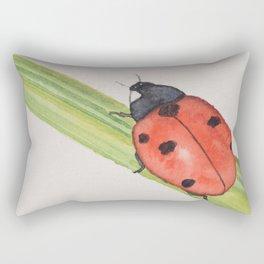 Ladybird on a blade of grass Rectangular Pillow
