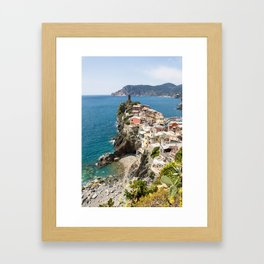 Vernazza, Italy Clinging to the Cliff Framed Art Print