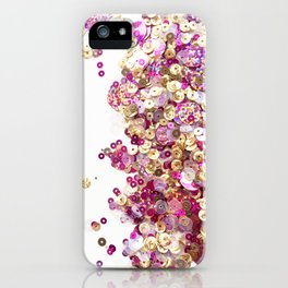 Pink and Gold Sequins Celebration! iPhone Case