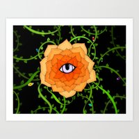chakra Art Prints featuring Sacral Chakra by DuckyB