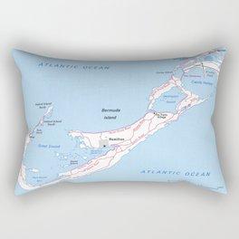 Vintage Map of Bermuda (1976) Rectangular Pillow