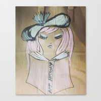 art history Canvas Prints featuring Pink Ladies: Art History by Amy Burvall