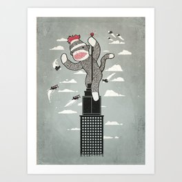 Sock Monkey Art Print