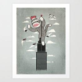 Sock Monkey Kunstdrucke