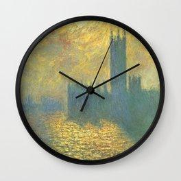 Claude Monet's Parlament in London Wall Clock