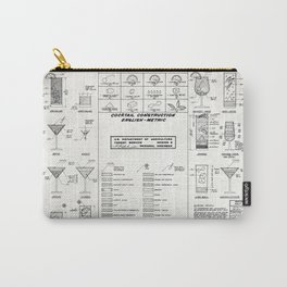COCKTAIL print, cocktail chart poster Carry-All Pouch