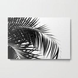 Palm Leaves Black & White Vibes #3 #tropical #decor #art #society6 Metal Print