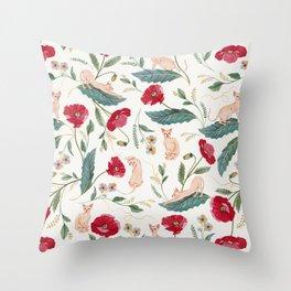 Ramona Poppy off-white Throw Pillow
