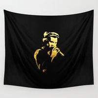 harry styles Wall Tapestries featuring Harry Styles by alexandraverena