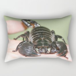 Holding death in my hand Rectangular Pillow