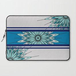 feathers effect bue multicolored abstract Laptop Sleeve
