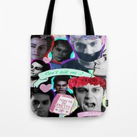 stiles Tote Bags featuring Void Stiles by Cute & Clay