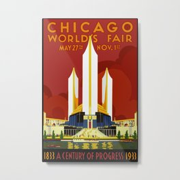 1933 Chicago World's Fair Metal Print
