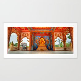 Golden Temple Laos Art Print