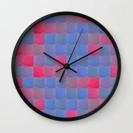 Zig-zag edged felt patchwork Wall Clock