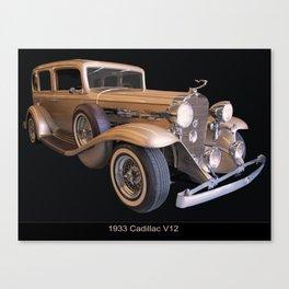 1933 Cadillac V12 Canvas Print