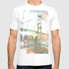 SF to NY MEDIUM Mens Fitted Tee White