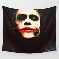 joker Wall Tapestries featuring The Joker by Hands in the Sky