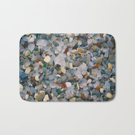 Glass Beach (texture) Bath Mat