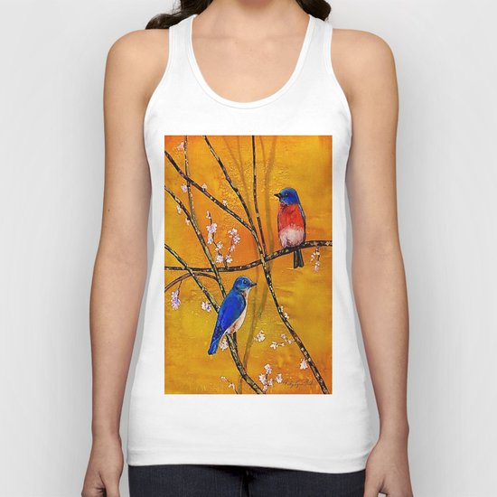 Blue Birds Unisex Tank Top