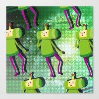katamari Canvas Prints featuring Katamari Cousins - Prince by cakeisforrobots