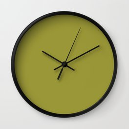 Solid Color Pantone Golden Lime 16-0543 Green Wall Clock