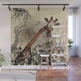 Sweet, cute giraffe Wall Mural