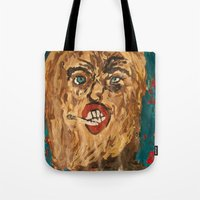 grunge Tote Bags featuring grunge  by Samantha Sager