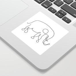 Elephant Line Art Sticker