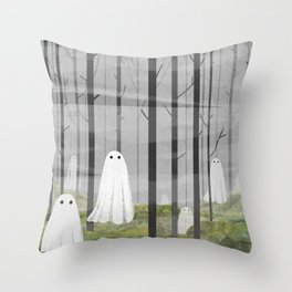 The Woods are full of Ghosts Throw Pillow