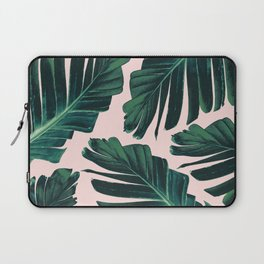 Tropical Blush Banana Leaves Dream #1 #decor #art #society6 Laptop Sleeve