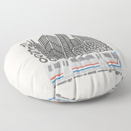 Chicago Cityscape Floor Pillow