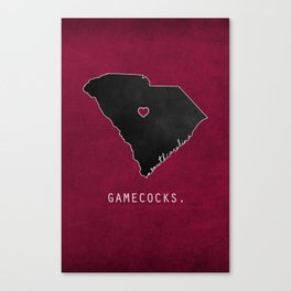 Gamecocks Canvas Print
